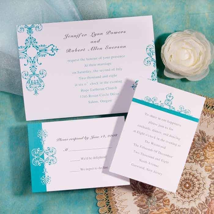 Cheap Blue Wedding Invitations: Pentru Un Eveniment Personalizat In